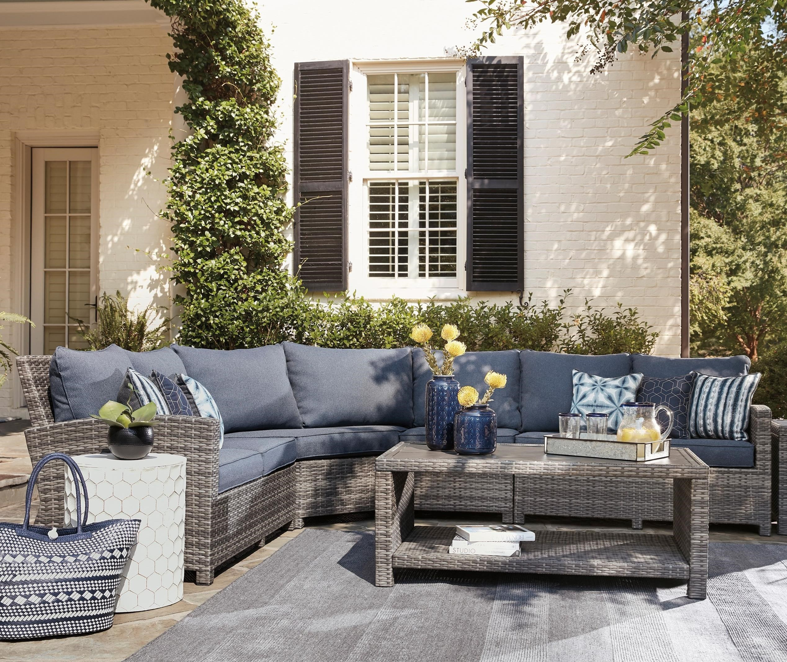 Salem Beach Outdoor Sectional by Signature Design by Ashley at Wayside Furniture