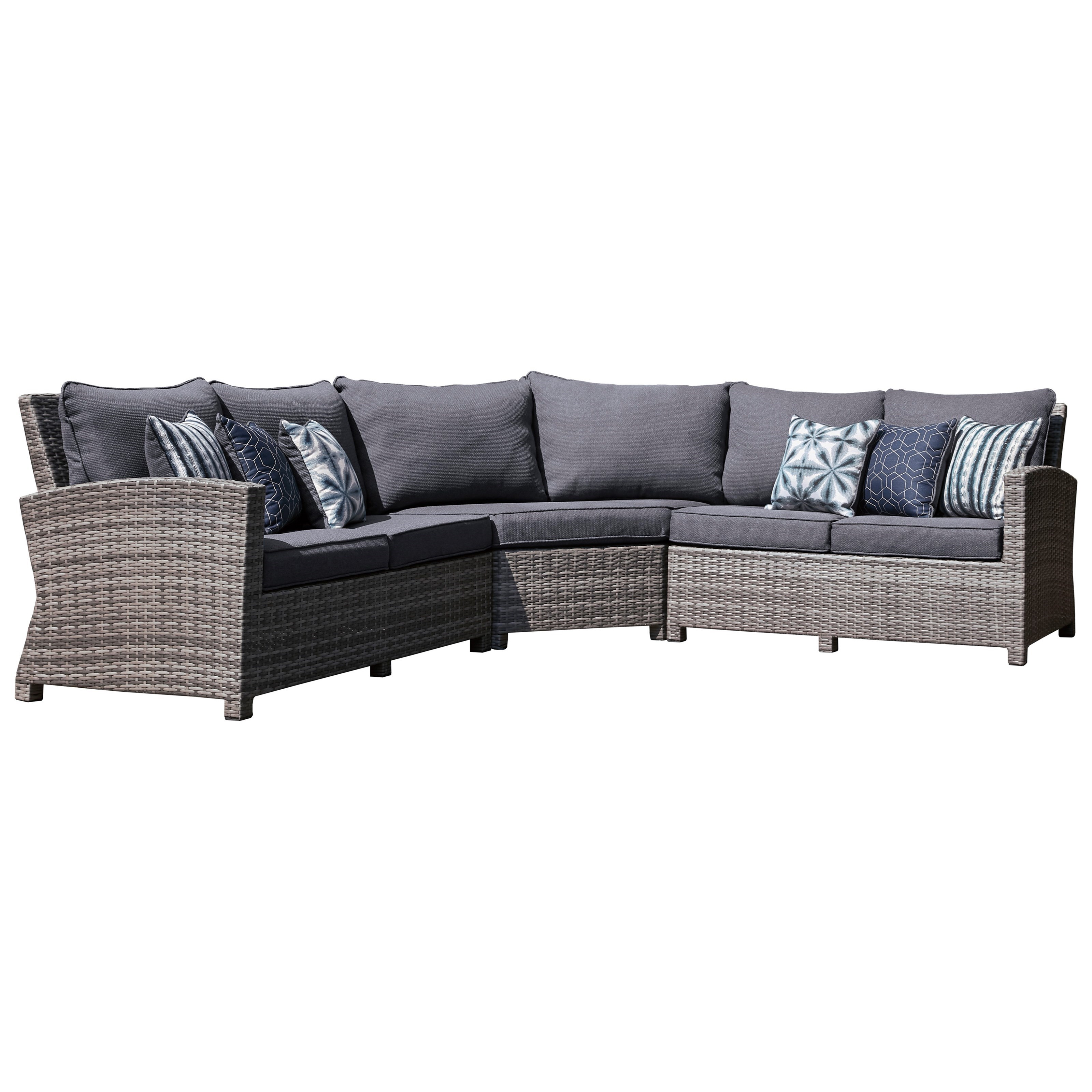 Salem Beach Outdoor Sectional by Signature Design by Ashley at Northeast Factory Direct