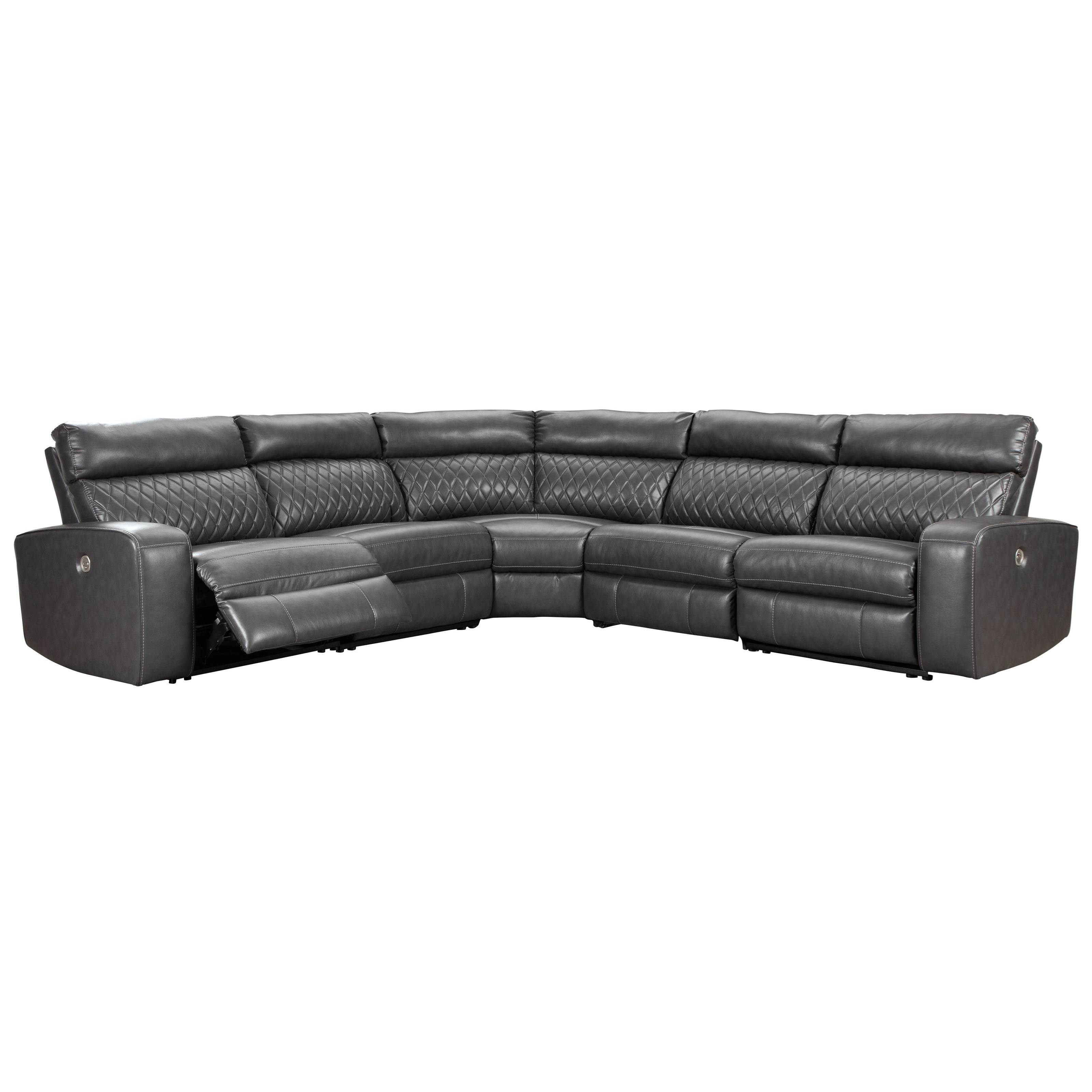 Samperstone Power Reclining Sectional Sofa by Signature Design by Ashley at Home Furnishings Direct