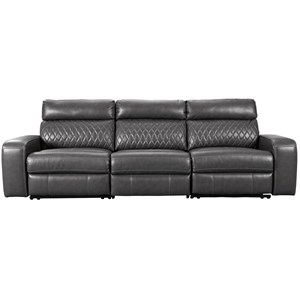 Transitional Power Reclining Sofa with USB Ports