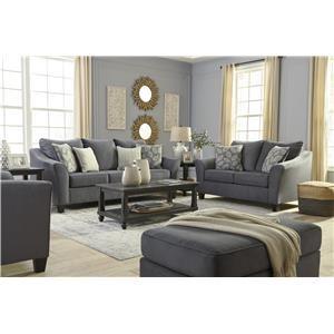 Graphite Sofa, Chair and Ottoman Set