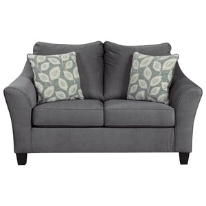 Loveseat with Flare Track Arms