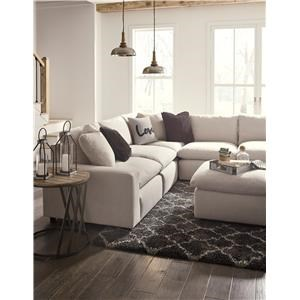 6 PC Modular Sectional and Ottoman Set