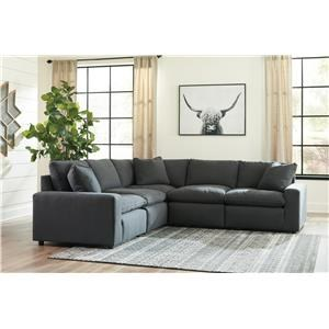 Charcoal 5 PC Sectional Set