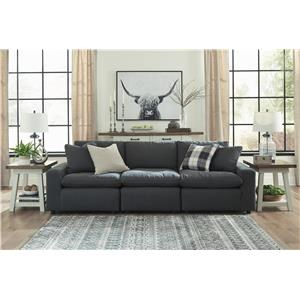 3 Piece Sectional and Ottoman Set