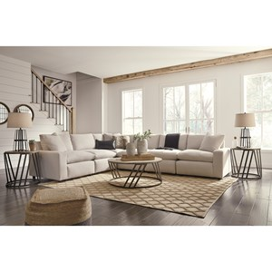 Casual Contemporary 6-Piece Sectional