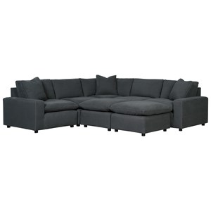Casual Contemporary 7-Piece Sectional Set