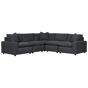 Casual Contemporary 5-Piece Sectional