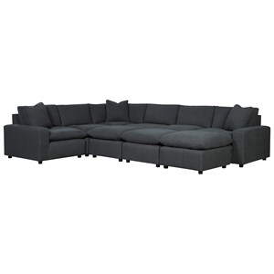 Casual Contemporary 9-Piece Sectional Set