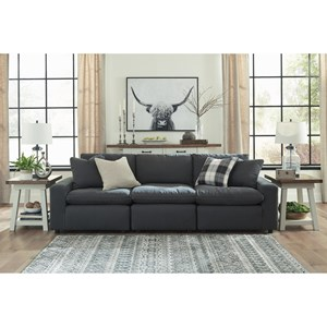 Casual Contemporary 3-Piece Sofa