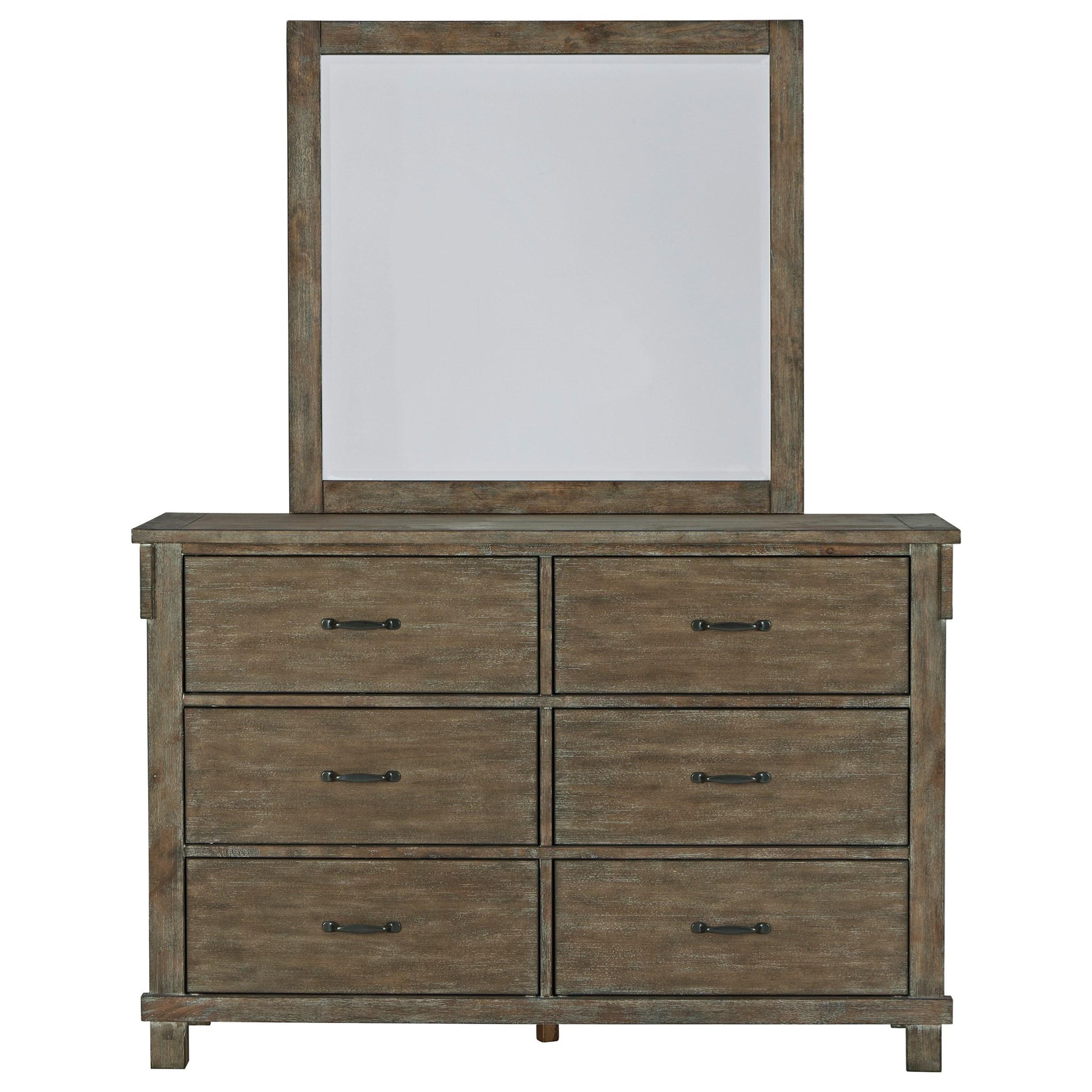 Shamryn Dresser & Mirror by Signature at Walker's Furniture
