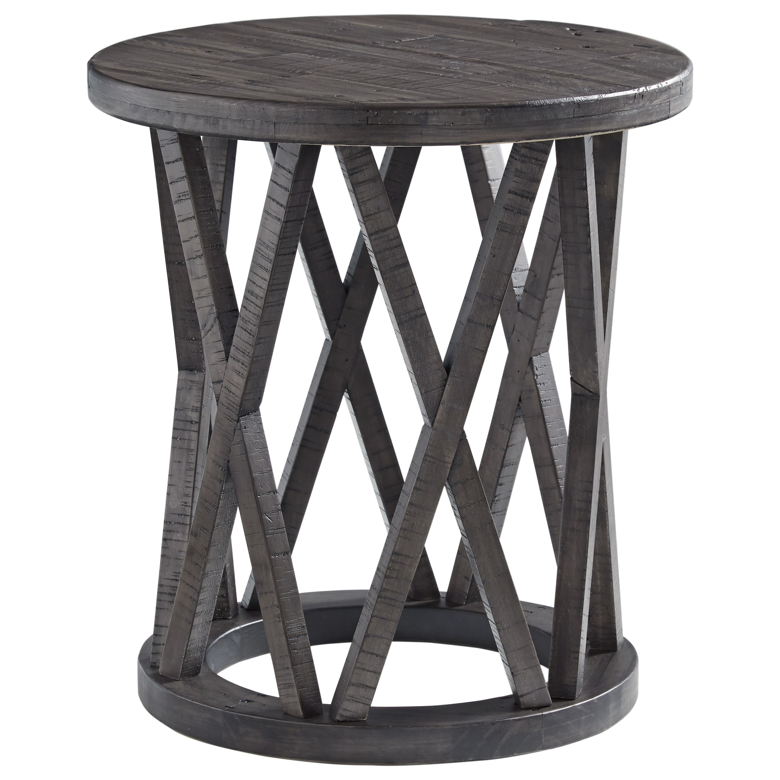 Sharzane Round End Table by Signature Design by Ashley at Sparks HomeStore