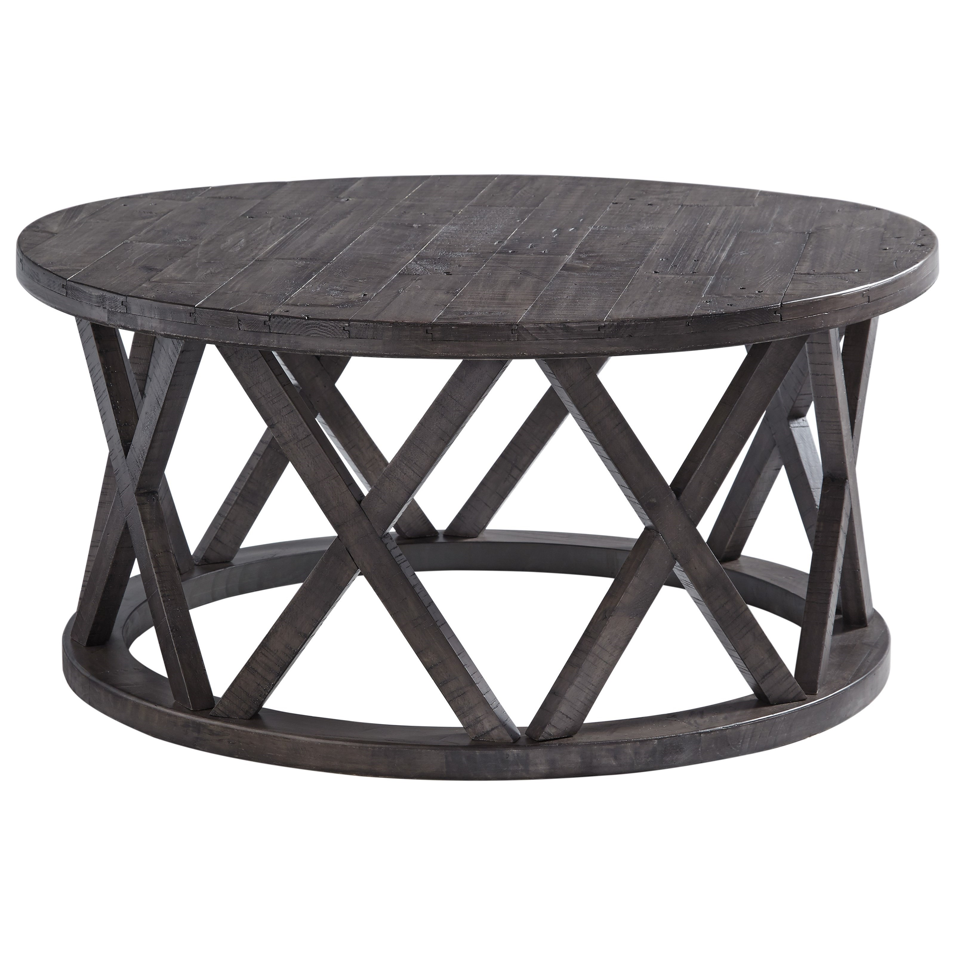Sharzane Round Cocktail Table by Signature Design by Ashley at Standard Furniture