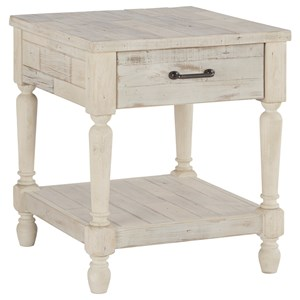 Relaxed Vintage Rectangular End Table