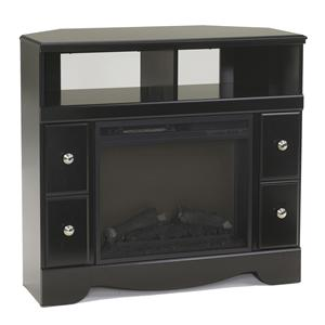 Contemporary Corner TV Stand with Fireplace