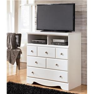 Contemporary 3 Drawer Media Chest