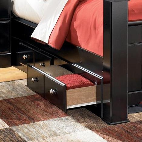 Shay Queen/King Bed Storage by Ashley (Signature Design) at Johnny Janosik