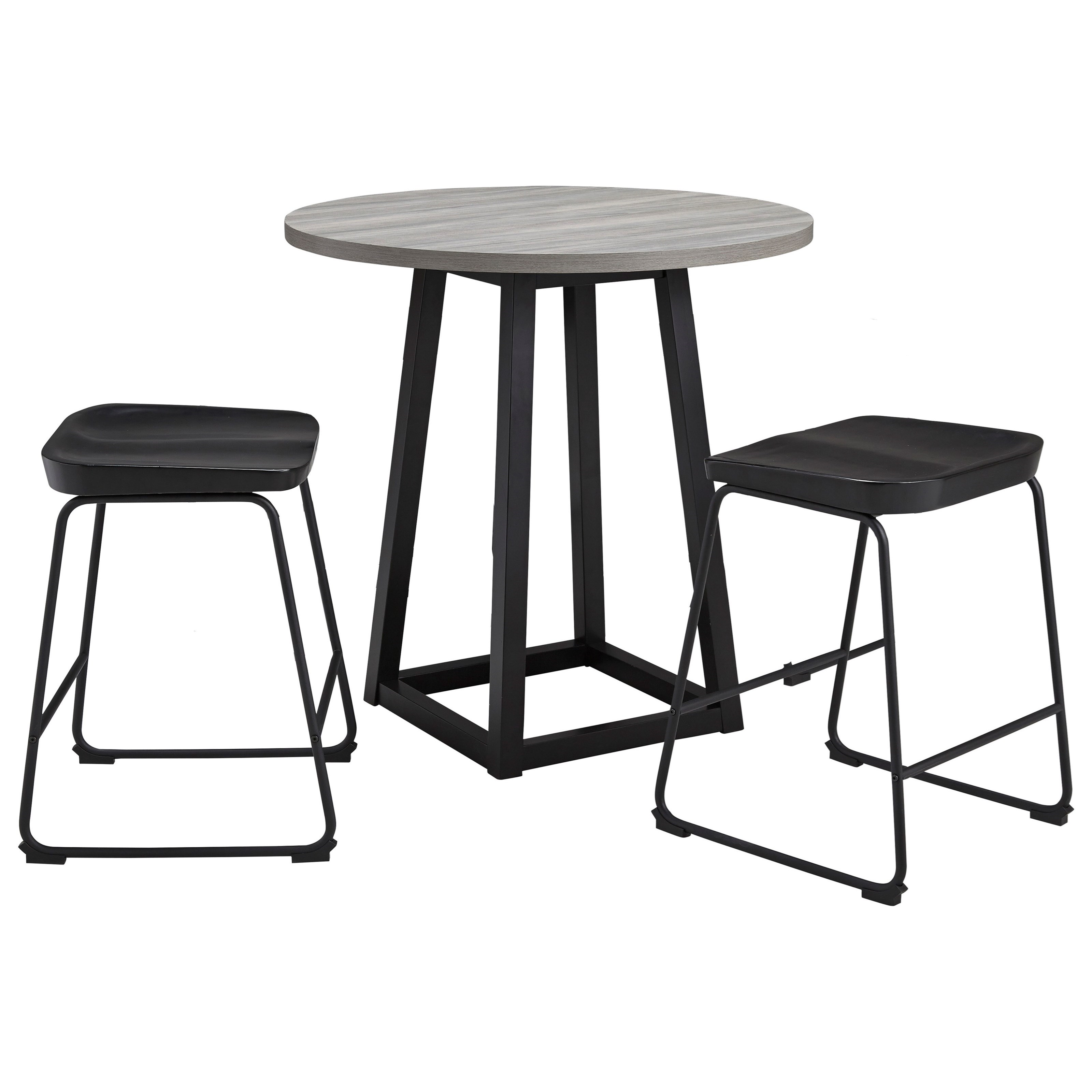 Showdell 3-Piece Counter Height Dining Table Set by Signature Design by Ashley at HomeWorld Furniture