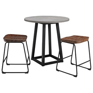 3-Piece Counter Height Dining Table Set