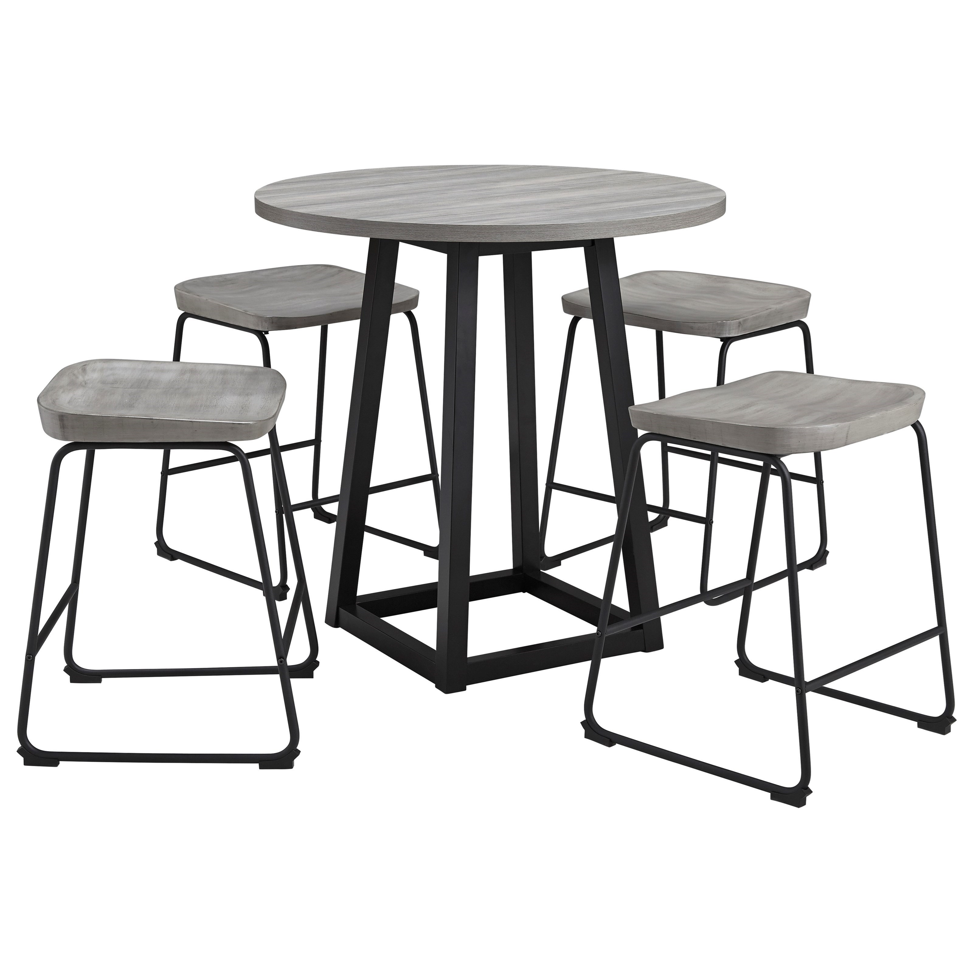 Showdell 5-Piece Counter Height Dining Table Set by Signature Design by Ashley at Northeast Factory Direct