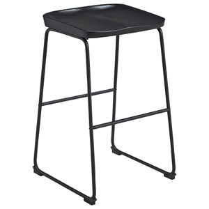 Tall Barstool with Sled Legs