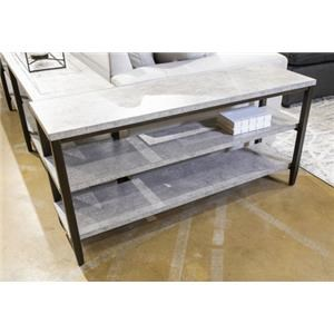 Sofa Table with Faux Concrete Top