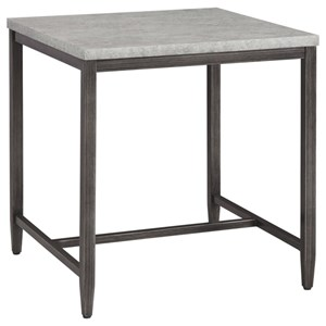 Contemporary End Table with Faux Concrete Top