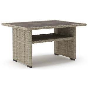 Rectangular Multi-Use Resin Wicker Table
