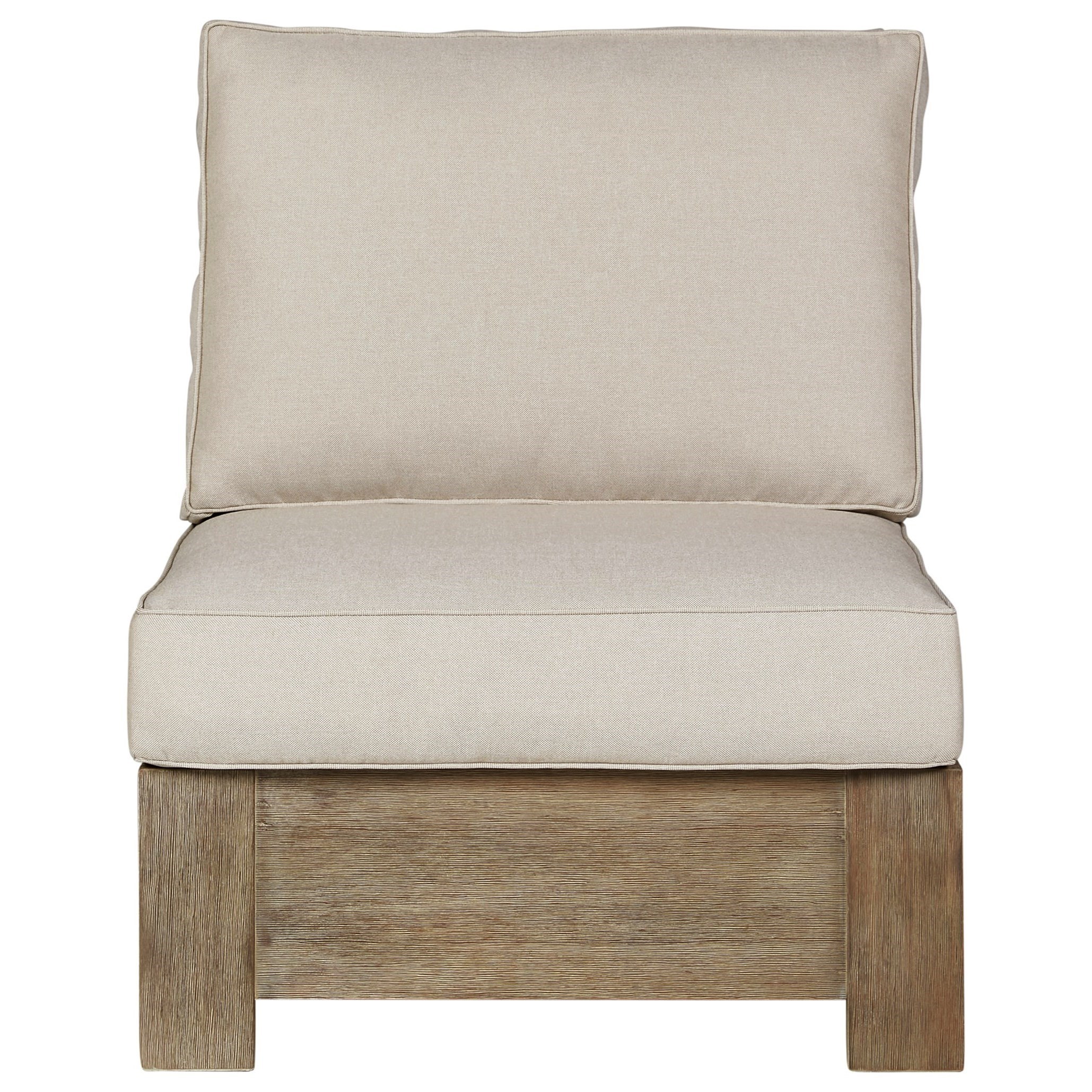 Silo Point Armless Chair w/ Cushion by Signature at Walker's Furniture
