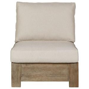 Armless Chair w/ Cushion