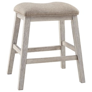 Backless Counter Height Upholstered Stool