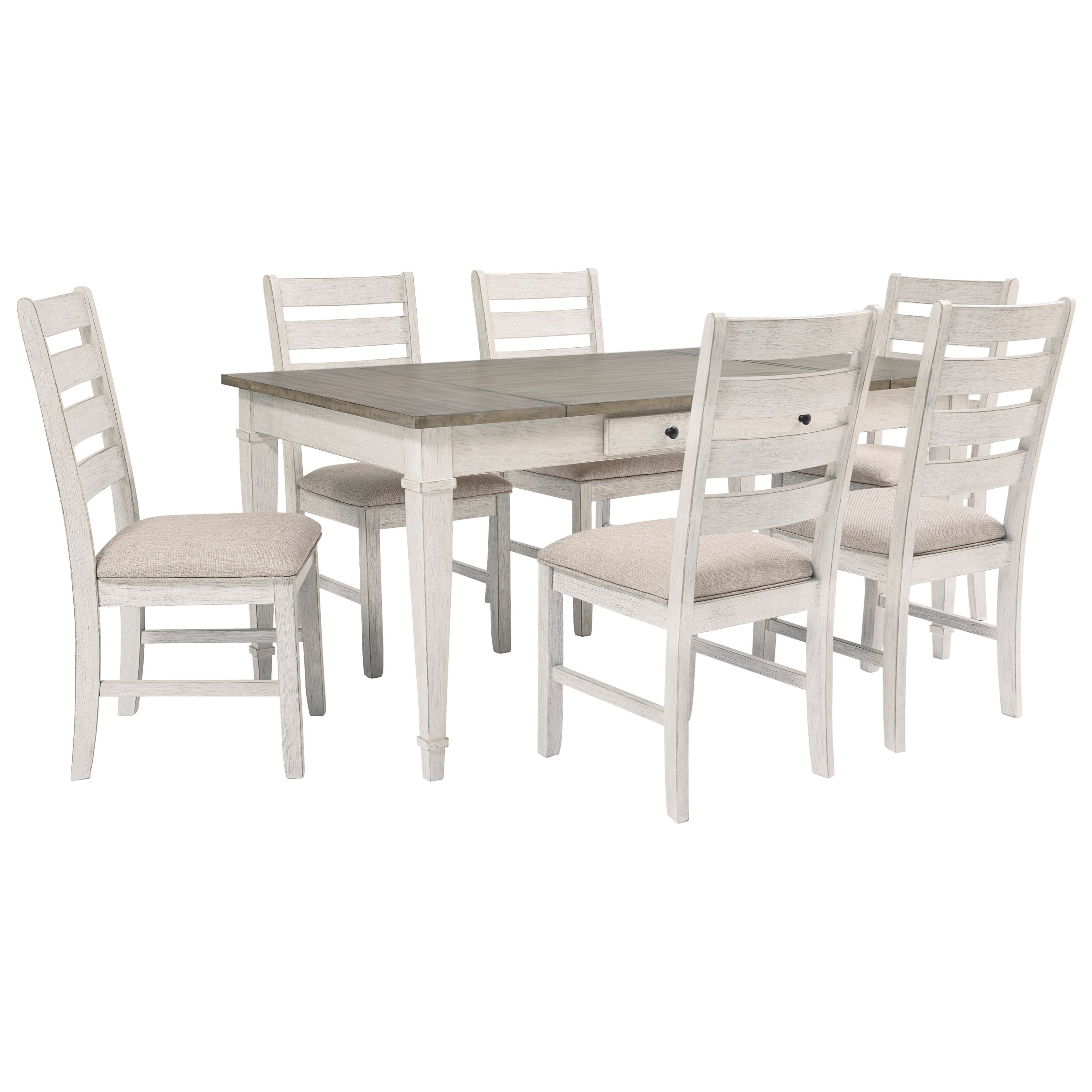 Skempton 7-Piece Rect. Dining Table Set w/ Storage by Signature Design by Ashley at Zak's Warehouse Clearance Center
