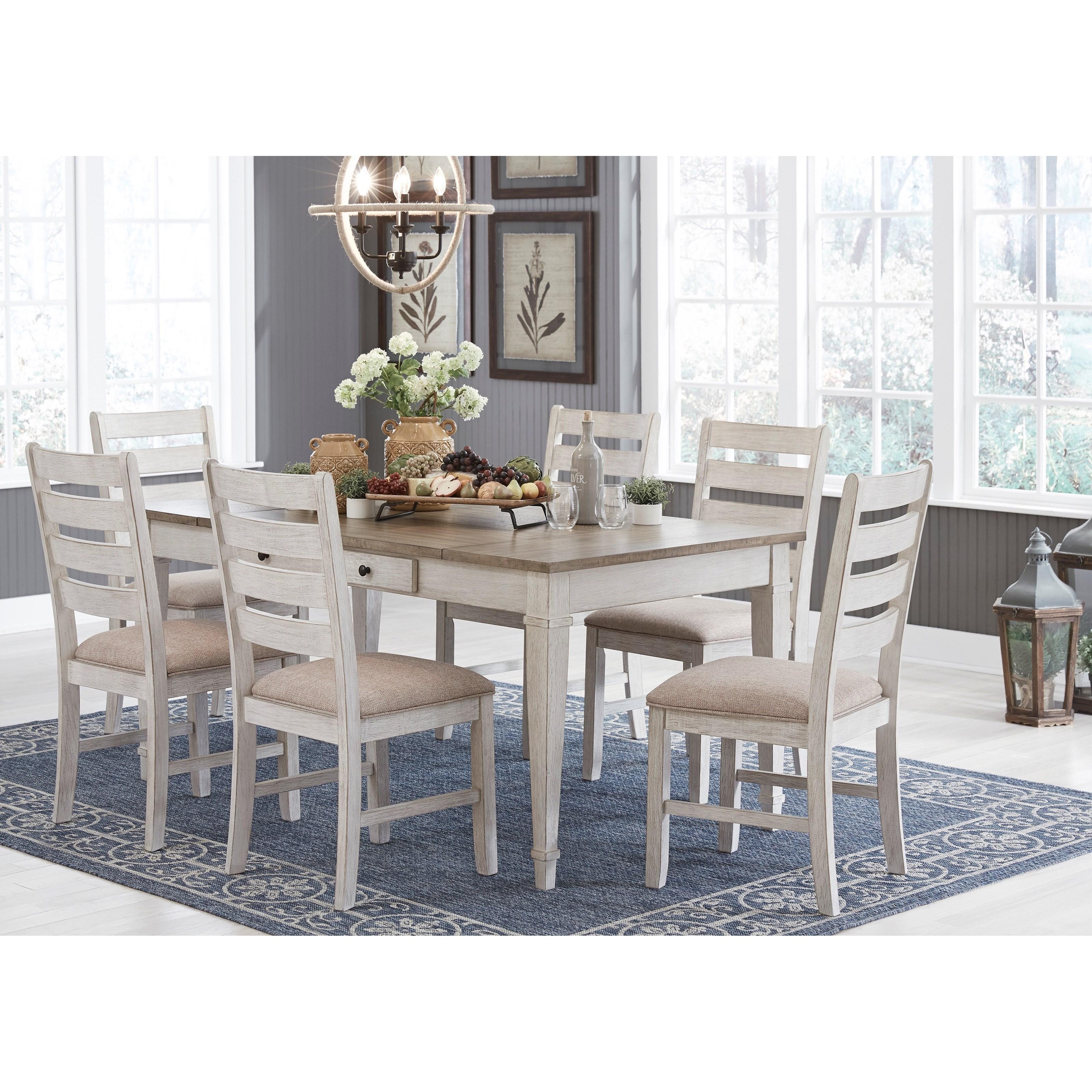 signature designashley skempton 7piece rect dining