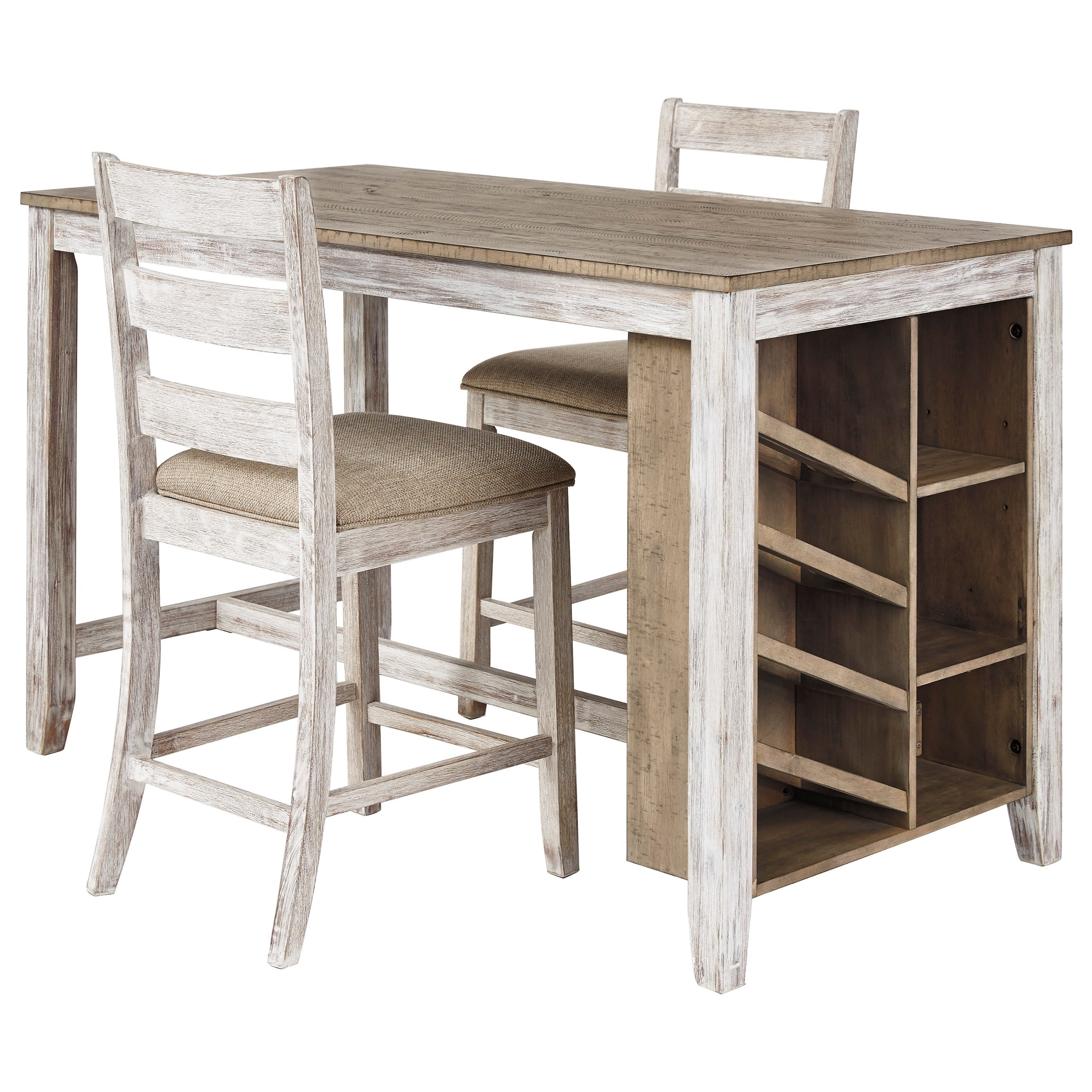 Skempton 3-Piece Rectangular Counter Table Set by Signature Design by Ashley at Prime Brothers Furniture