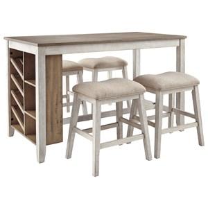 5-Piece Rectangular Counter Table Set