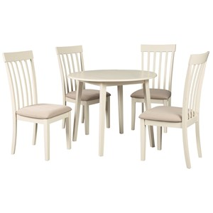 Causal 5-Piece Kitchen Table Set with Drop Leaves