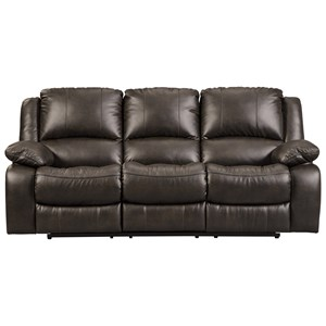 Faux Leather Reclining Power Sofa