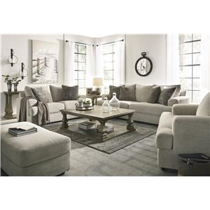Stone Sofa, Loveseat, Chair and Swivel Accent Chair Set