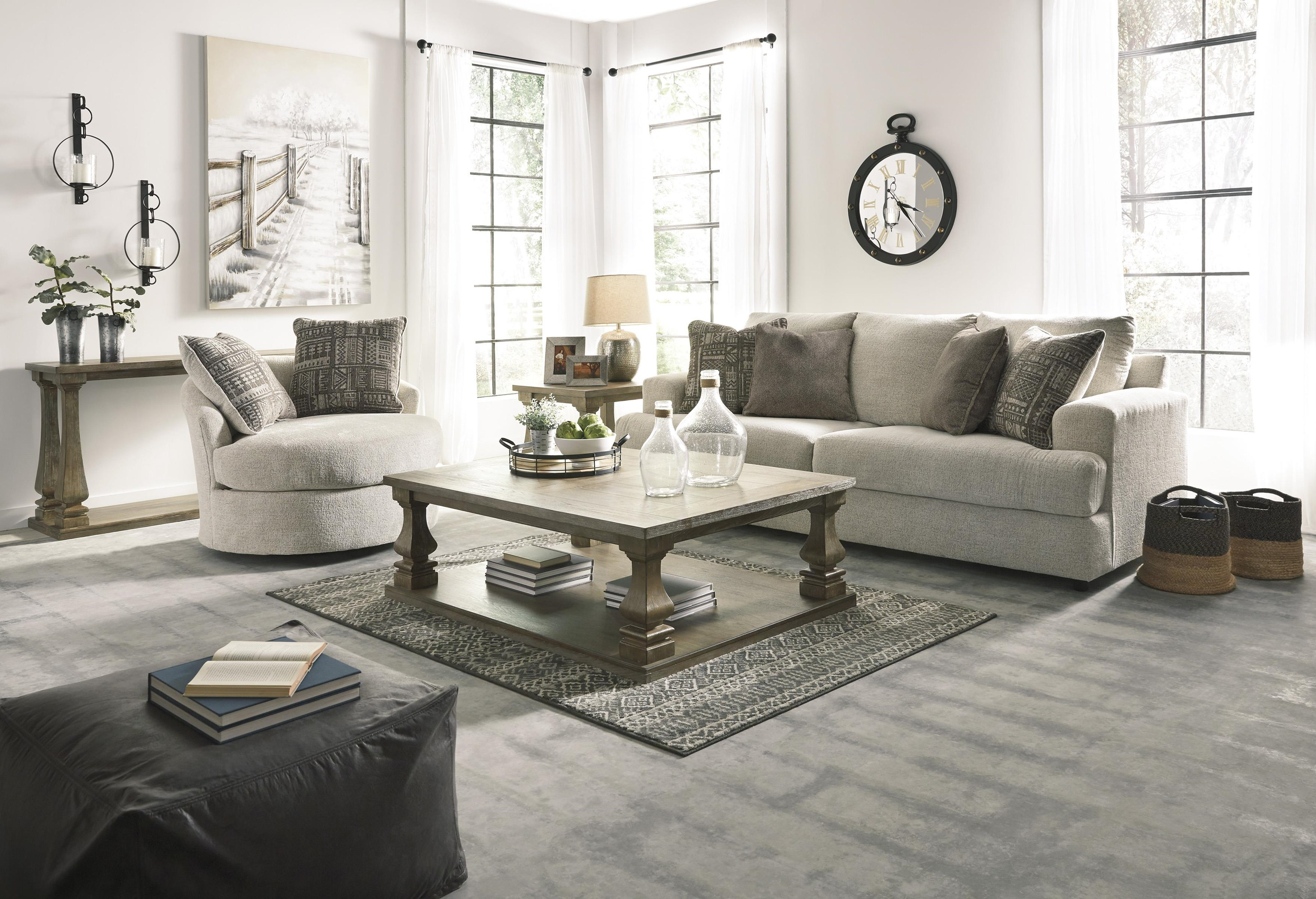 Sofa, Chair and Swivel Accent Chair Set