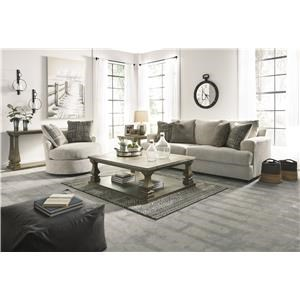 Stone Sofa, Chair and Swivel Accent Chair Set