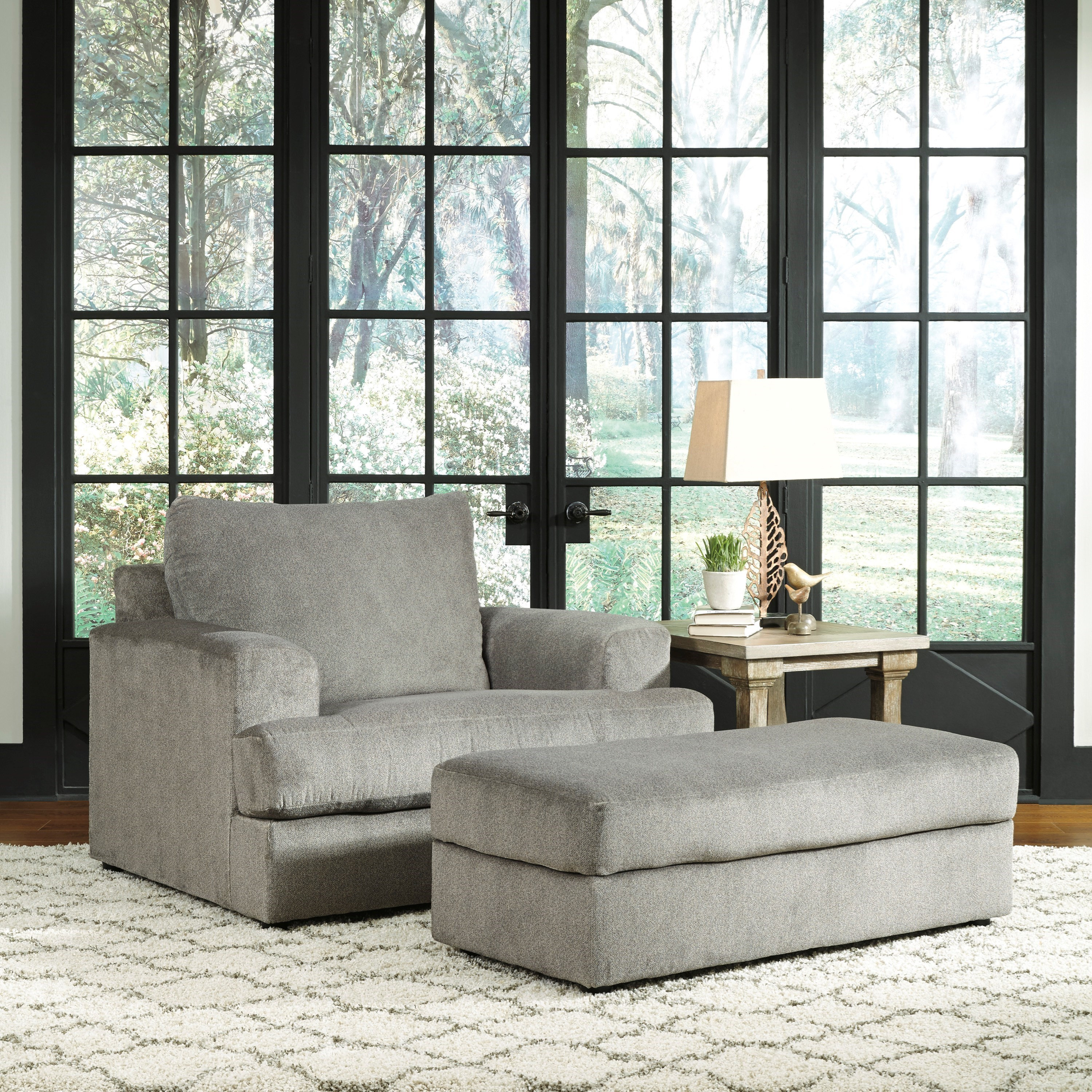 Soletren Chair and a Half with Ottoman by Signature Design by Ashley at Zak's Warehouse Clearance Center
