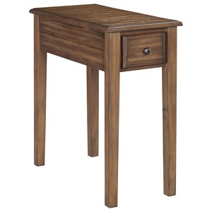 Chair Side End Table w/ Outlet & USB Chargers