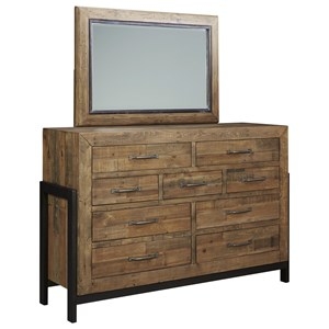 Reclaimed Pine Solid Wood Dresser & Bedroom Mirror