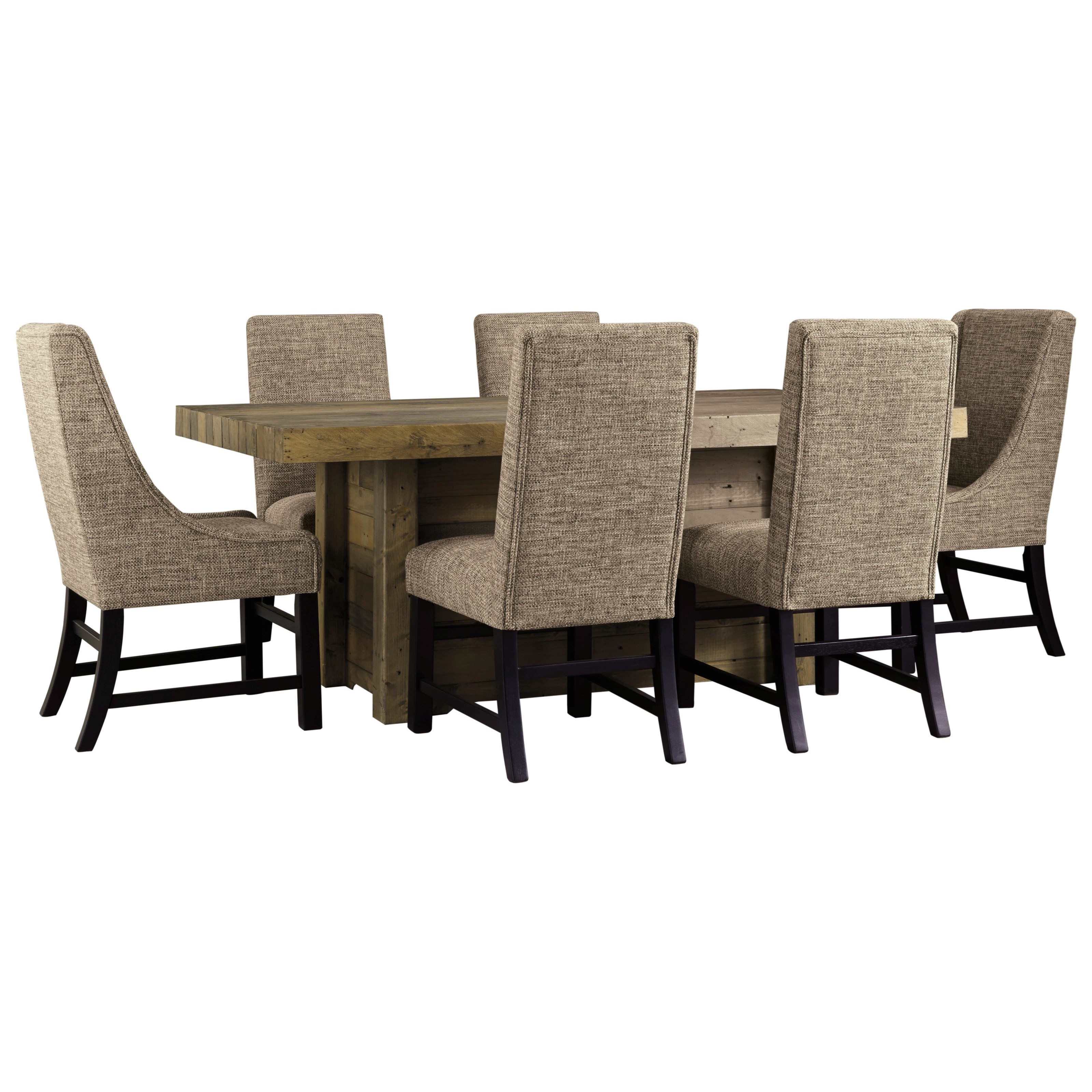 Sommerford 7-Piece Rectangular Dining Room Table Set by Ashley (Signature Design) at Johnny Janosik