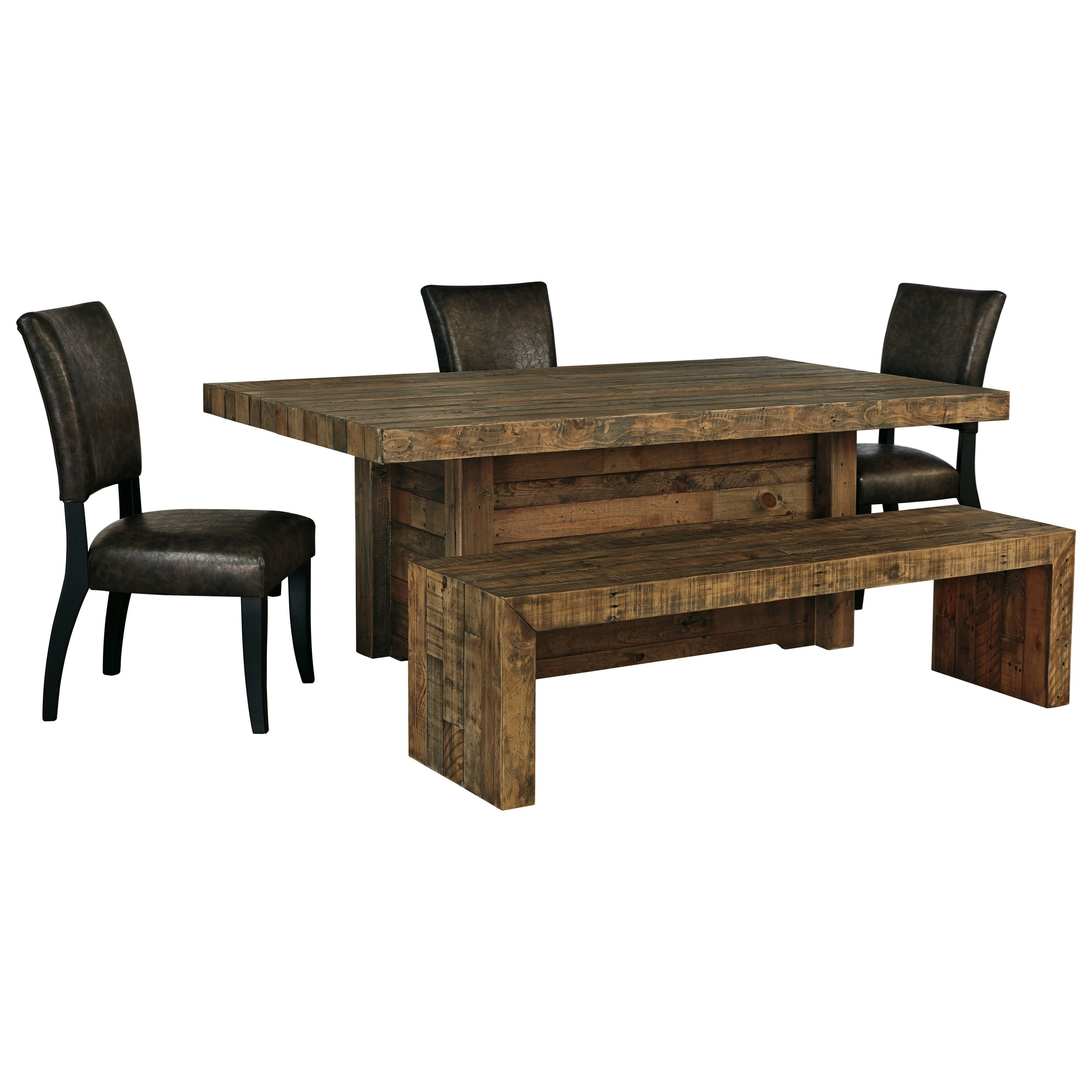 Sommerford 5-Piece Table Set with Bench by Ashley (Signature Design) at Johnny Janosik