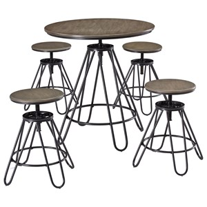 5-Piece Adjustable Height Dining Room Counter Table Set