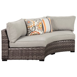 Loveseat/Curved Corner Chair with Cushion