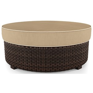 Resin Wicker Ottoman with Cushion