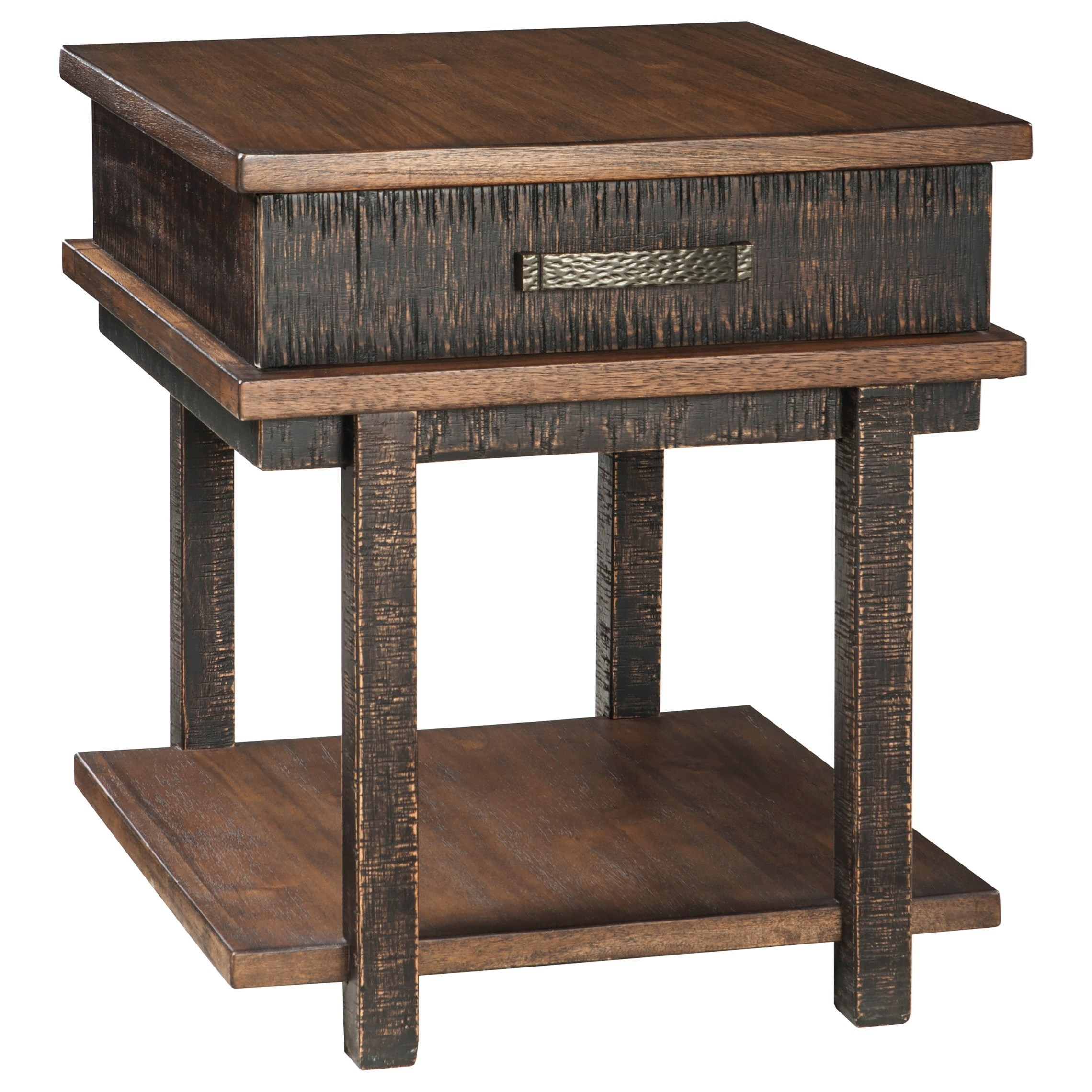 Stanza Rectangular End Table by Signature at Walker's Furniture