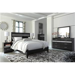 4PC Queen Panel Bedroom Set